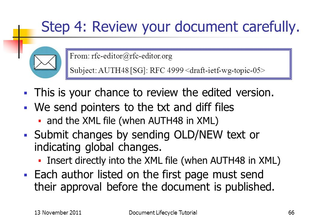 Step 4: Review your document carefully.