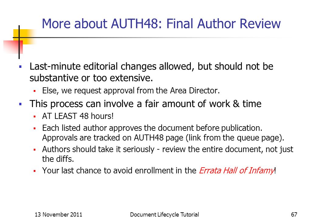 More about AUTH48: Final Author Review