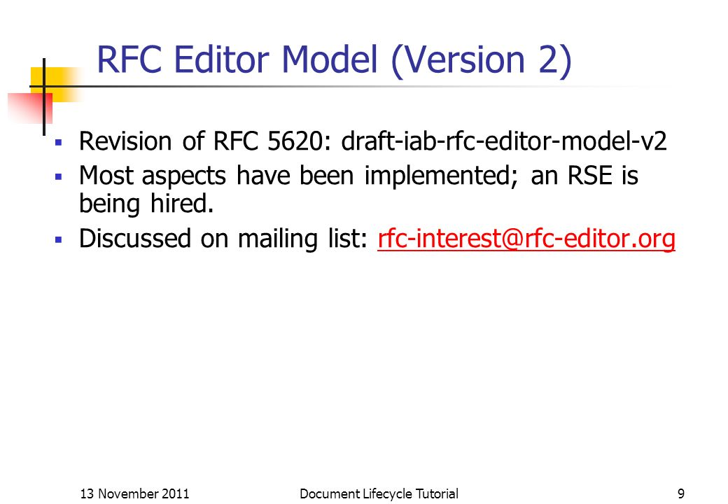RFC Editor Model (Version 2)