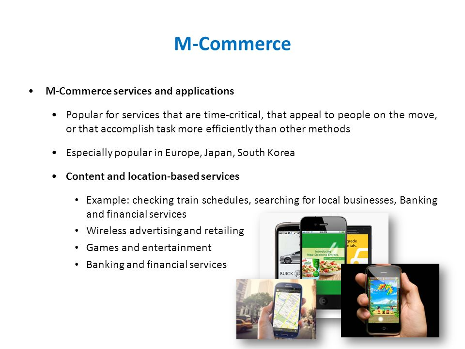m commerce application Deciding what to do about the explosive growth of mobile traffic can be difficult  that's why we're bringing you some of our picks for the best of.