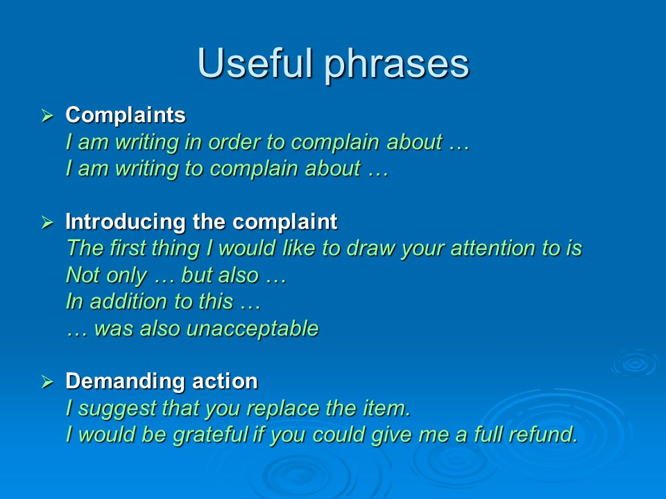 Letters writing guide mgr anna waligrska kotfas pwsz konin ppt 7 useful phrases complaints spiritdancerdesigns Choice Image
