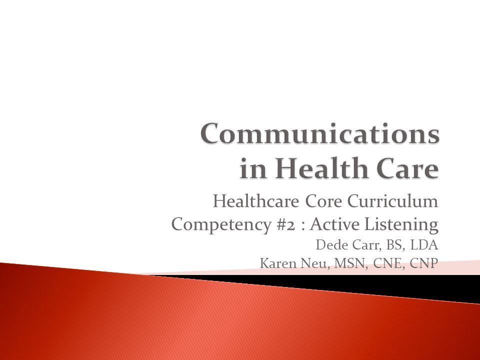communication in health care Goaluse health communication strategies and health information technology to improve population health outcomes and health care quality, and to achieve health equity.