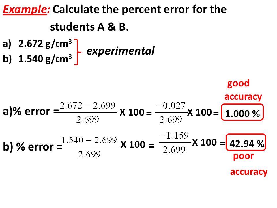 percent error calculator The percentage error is 100% times the relative error  absolute error, error propagation, percent, relative error references:  online integral calculator.