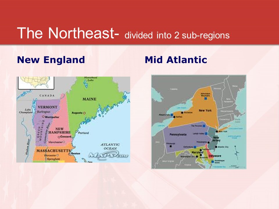 US Geography Regional US Geography Ppt Video Online Download - Us map divided into 4 regions