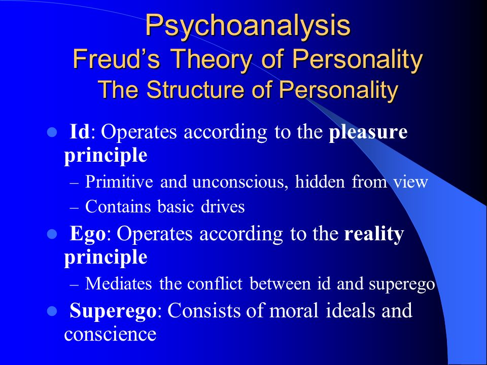 Sigmund freuds views on the concept of pleasure and reality principles