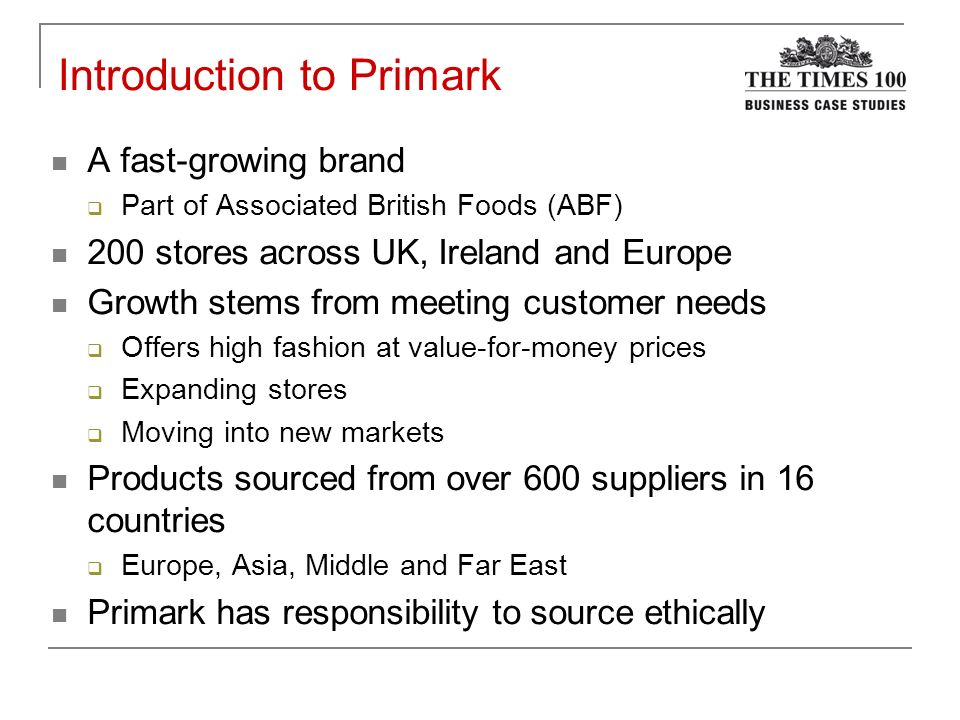 stakeholder in primark Respond to the following, using anglo-american and primark as examples: 1)   how anglo-american benefits from its positive stakeholder relationships (see.