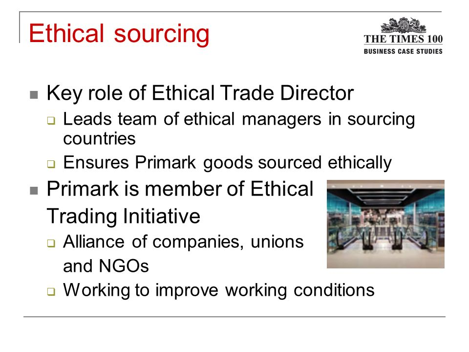 ethics essay primark Individual primark essay primark source cheap labour in foreign countries, to minimise price and maximise profits how have they defended this policy to their other stakeholders.