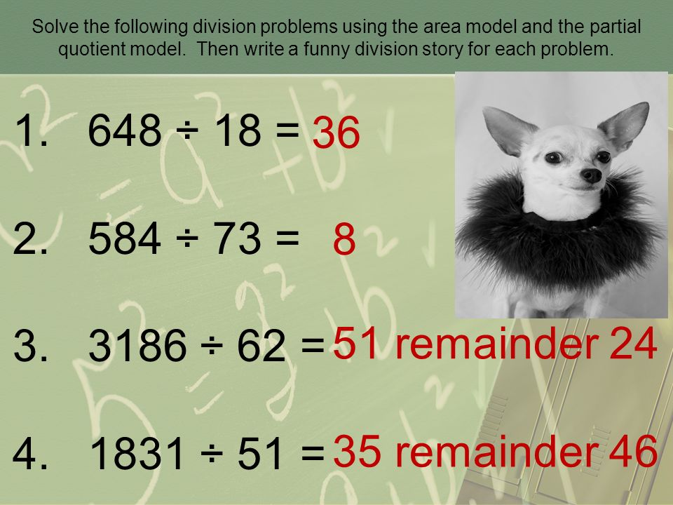 Creating Word Problems With Division
