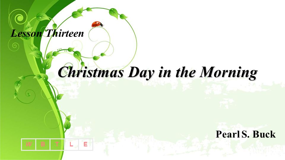 Christmas Day in the Morning - ppt video online download