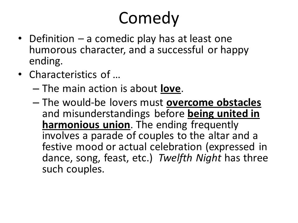 Characteristics of the shakespearean comedy