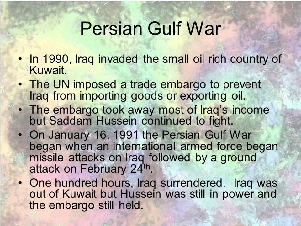 Persian gulf war began