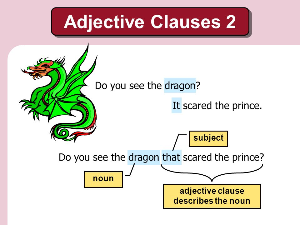 Adjective Clauses 2 The Fearless Princess A Fairytale ...