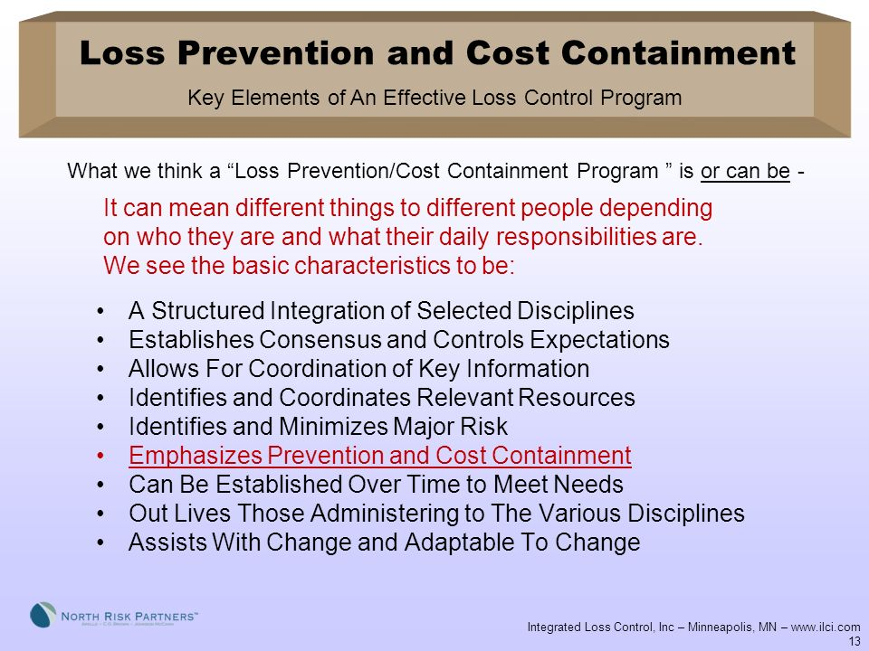 Loss Prevention and Cost Containment ppt download – Loss Prevention Responsibilities