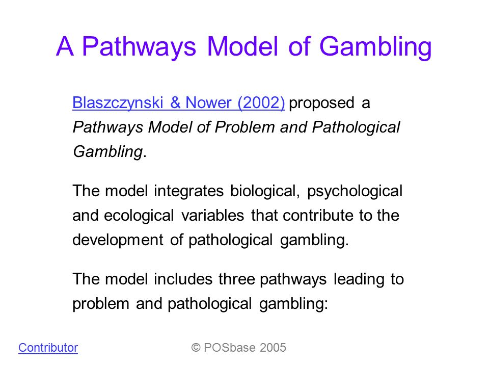A pathways model of problem and pathological gambling gambling disney cruise line
