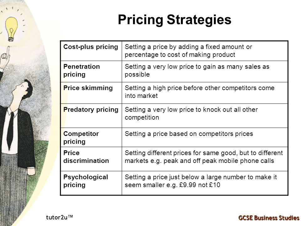 Pricing Strategies GCSE Business Studies tutor2u™ - ppt ...