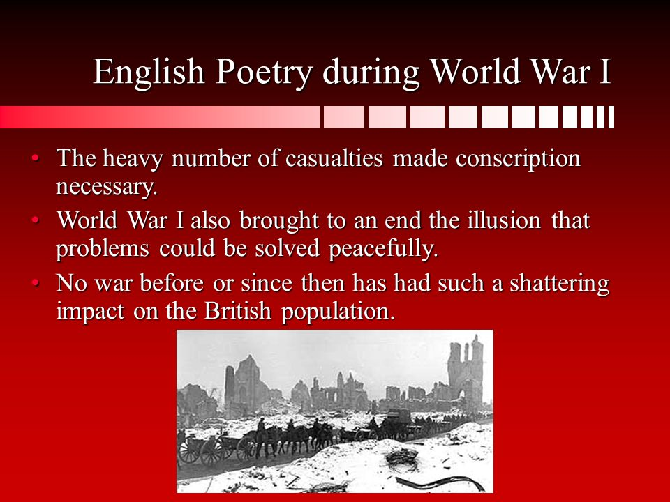 world war i poems analysis In this lesson, you'll be introduced to some of the most important figures in world war i poetry these will include soldier-poets and civilians.