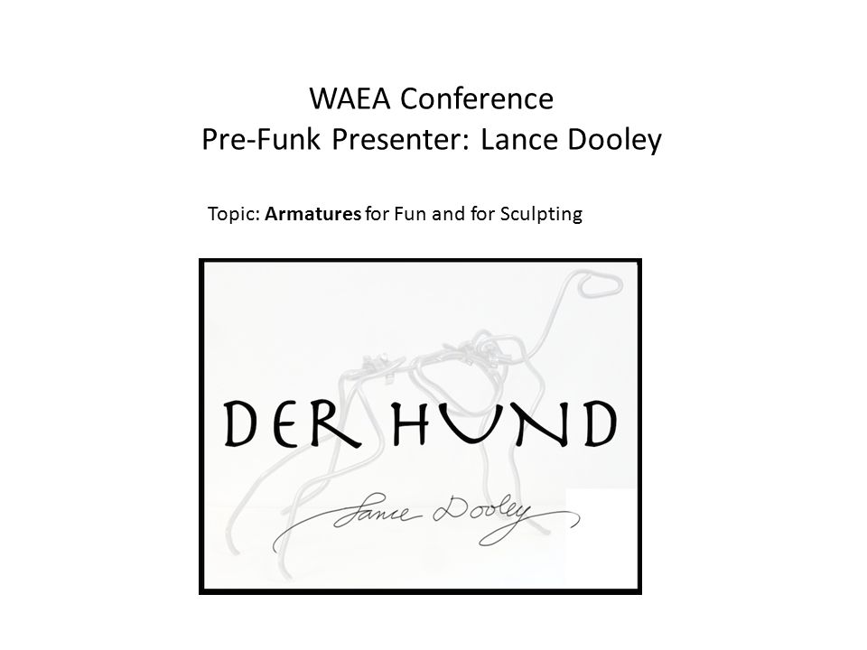 Pre-Funk Presenter: Lance Dooley