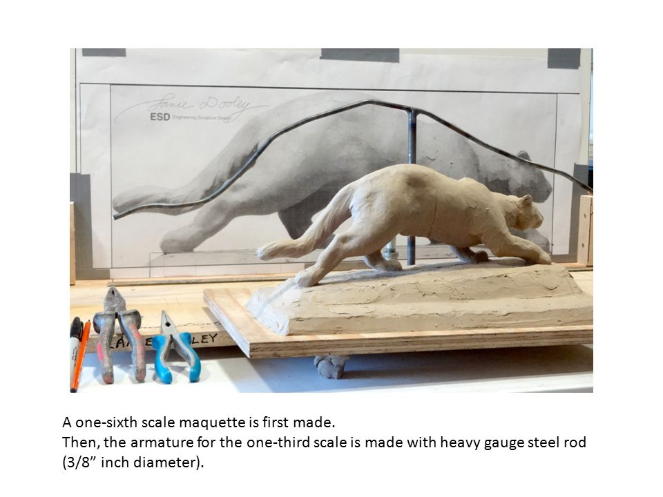 A one-sixth scale maquette is first made.