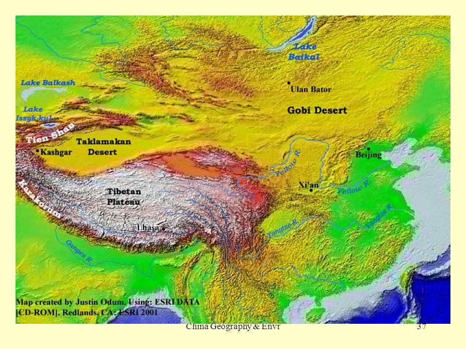 Mu us desert china map Deserts Of China Map on