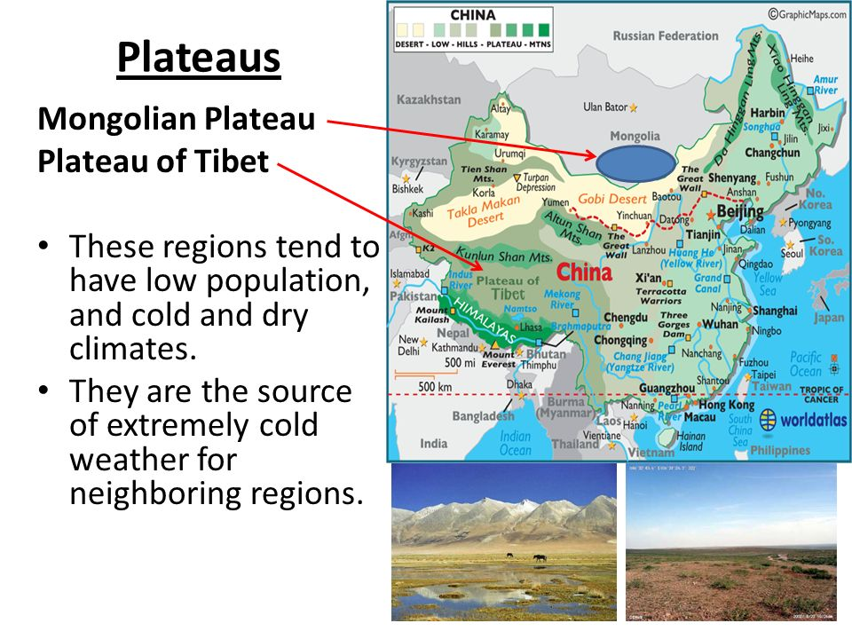 Mongolian plateau world map