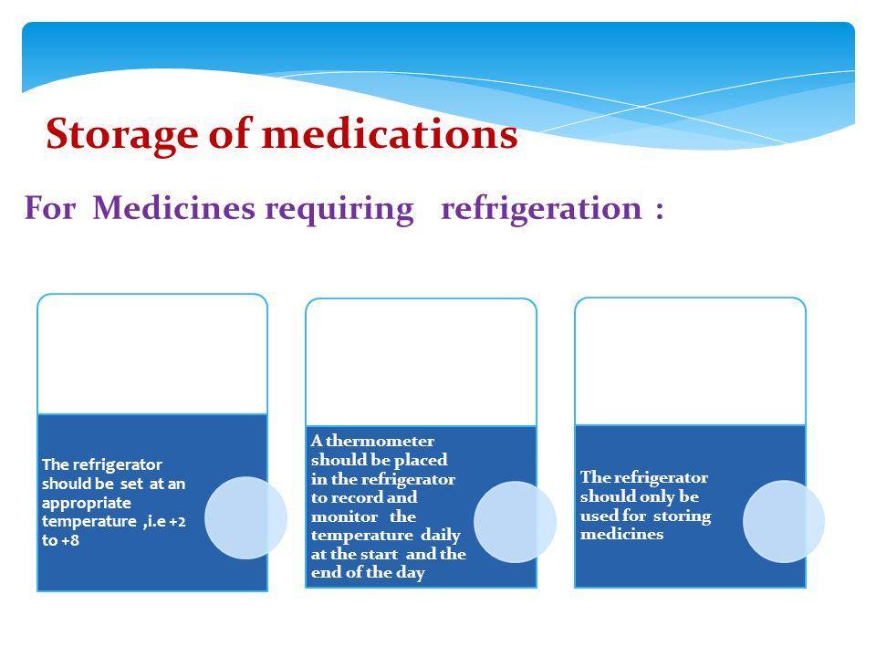 Medication Storage Temperature Guidelines Best Storage