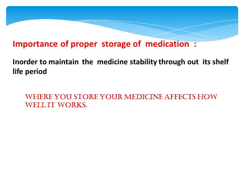Storage Of Medications Ppt Video Online Download