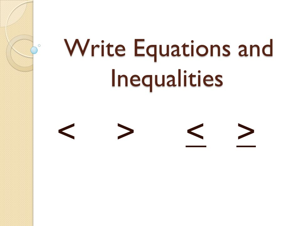 write an inequality for each sentence worksheet-1st