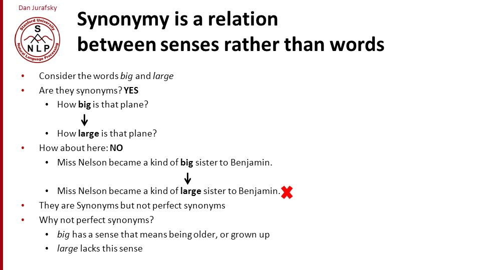 word meaning and sense relations Sense relations and the applications in english vocabulary teaching in other words, the meaning of a word can only be.