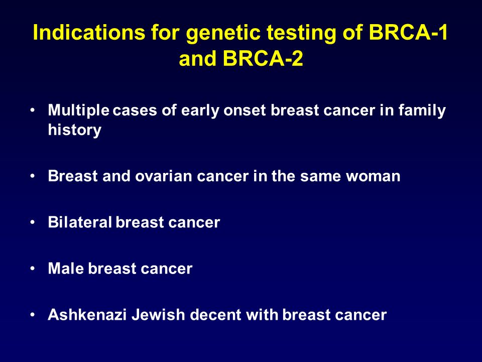 breast cancer 1 early onset gene analysis Breast cancer 1, early onset, brcai heteroduplex analysis in addition to breast cancer, mutations in the brca1 gene also increase the risk of ovarian.