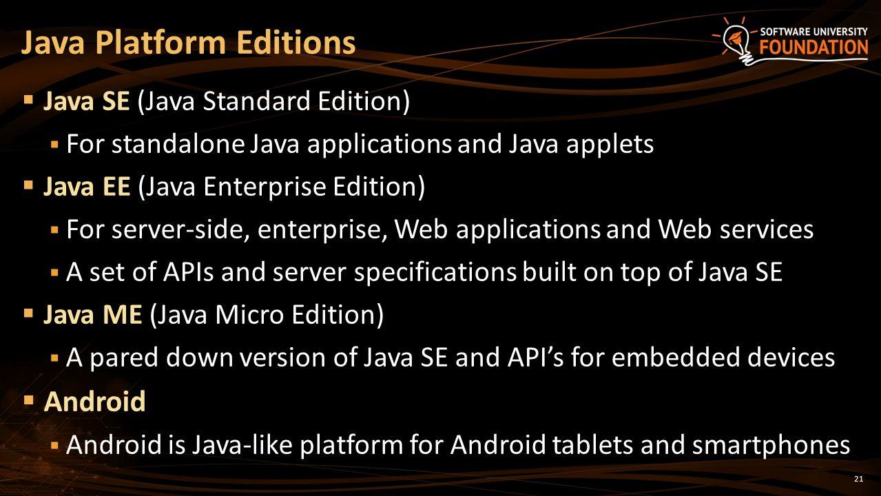 The java platform the java language jdk intellij ppt download java platform editions baditri Gallery
