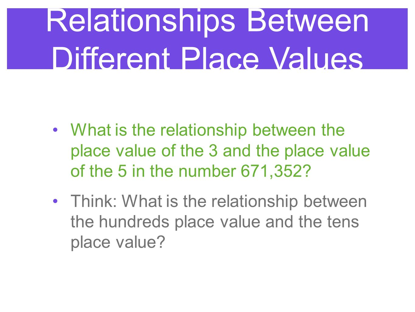 dating different values