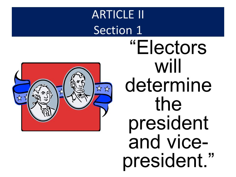 The Reason for the Electoral College