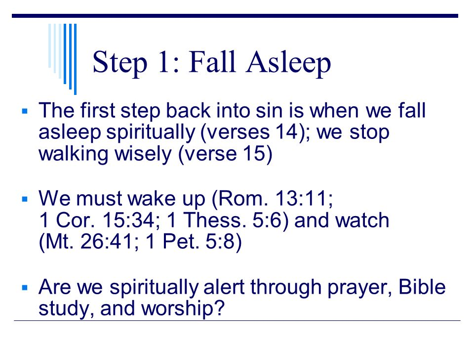 Six steps backward to sin ppt download 3 step 1 fall asleep ccuart Gallery