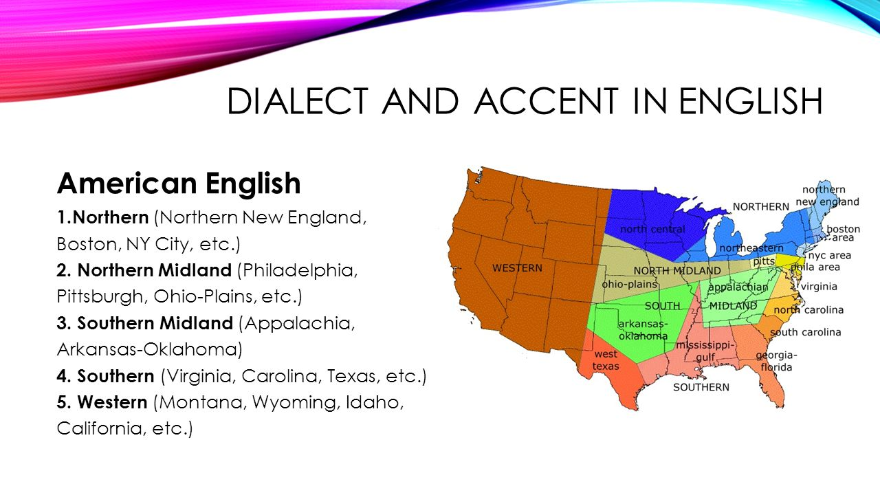 dialect in english