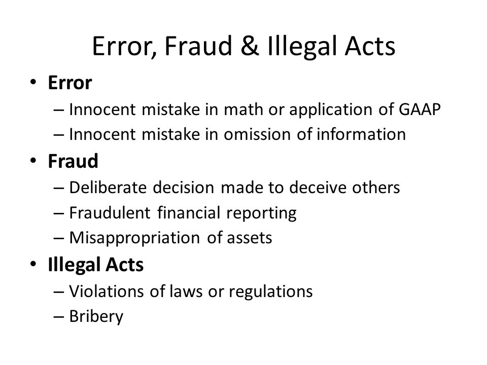 "auditor's responsibilities in fraud and error Has settled is: ""where were the auditors and why didn't  case the external  auditors -- or should responsibility be  caused by error or fraud, will be detected."
