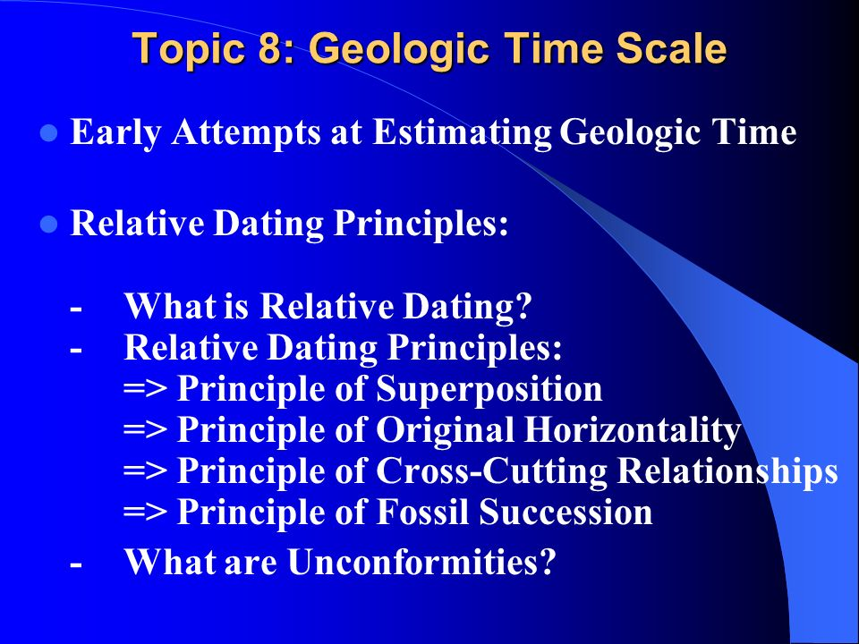 Faunal succession relative dating principles 6