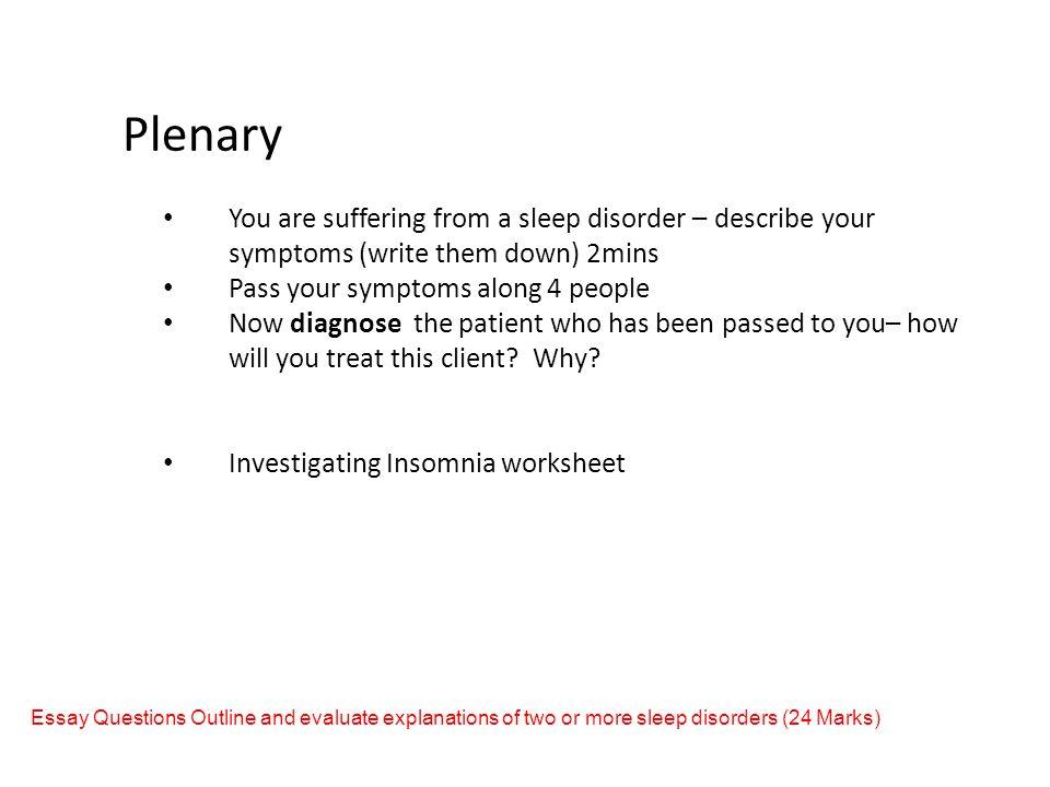 my day out narcolepsy ppt 28 plenary