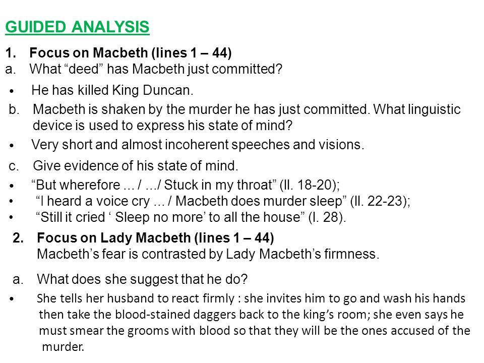 an analysis of murder sleep in macbeth Quote analysis macbeth study play fair is foul and foul is fair what literary term is shown in this quote what is the meaning/importance of this quote  sleep no more mcbeth doth murder sleep speaker what motif as shown in this quote what is the meaning and importance of this quote macbeth.