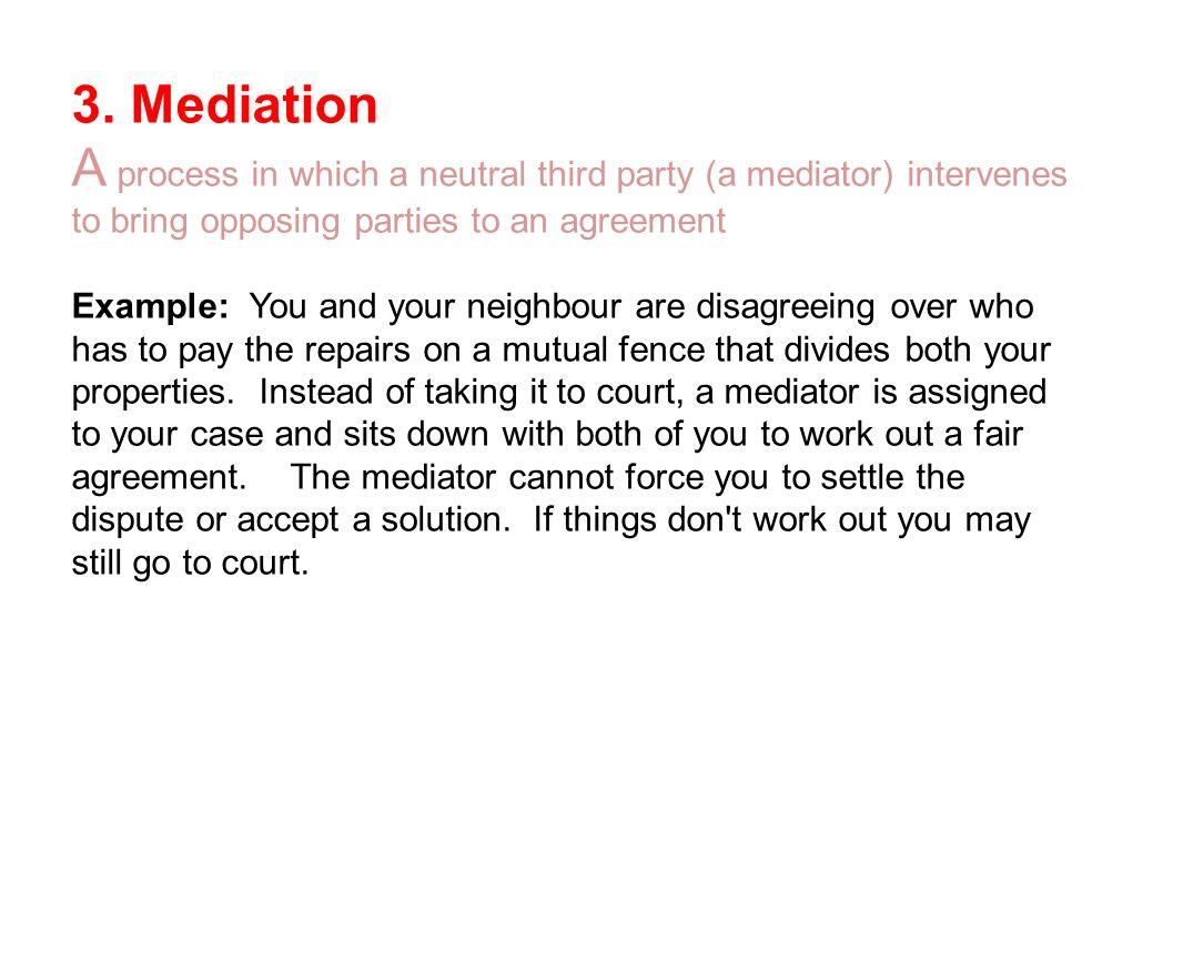 mediation in third party intervention