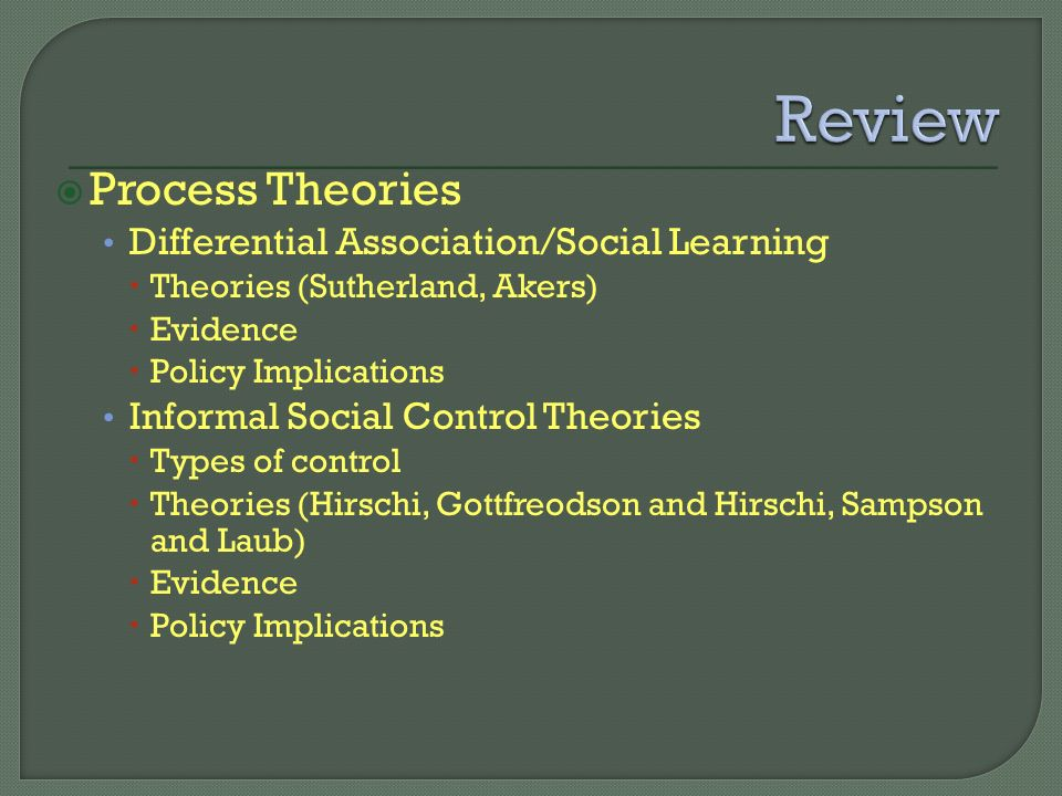 sutherlands differential association theory