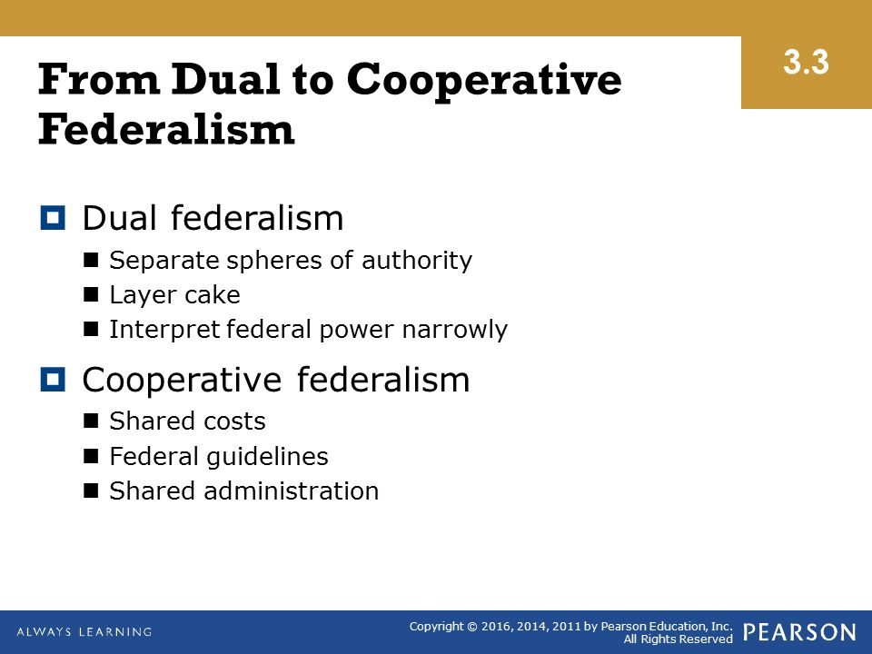 cooperative federalism A major historical debate in co-operative economics has been between co- operative federalism and co-operative individualism in an owenite.