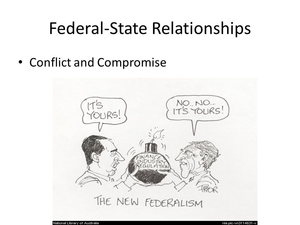 federal and state government relationship with business