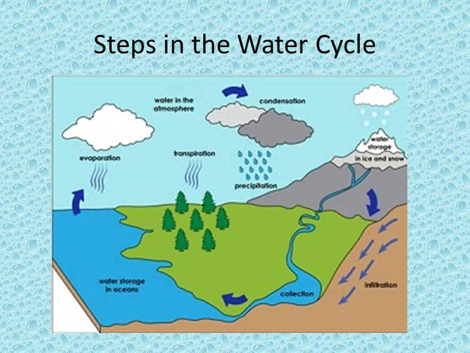 how to draw a water cycle step by step