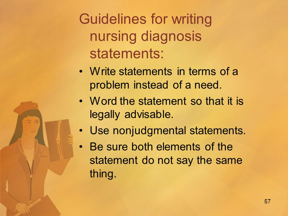 family nursing diagnosis essay This paper involves the assessment of the family of mr f v using the friedman family assessment model using at least three nursing diagnosis identifying data mr f v's family resides in mayfield heights, ohio.