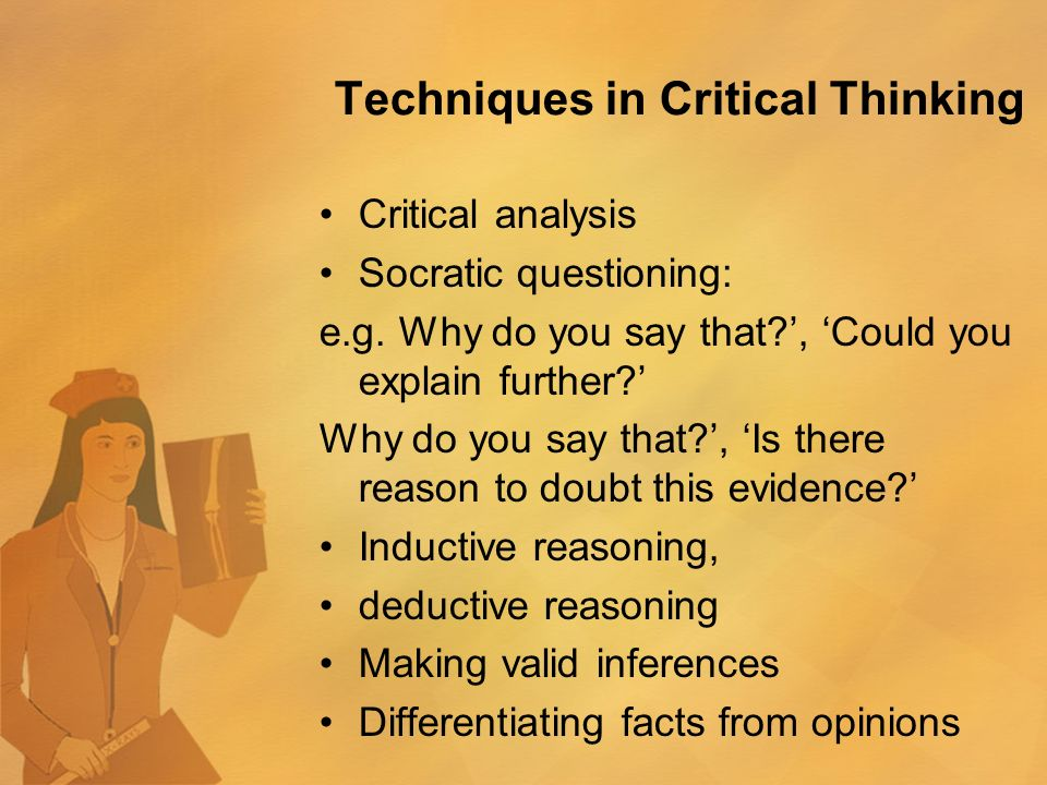16 techniques of critical thinking