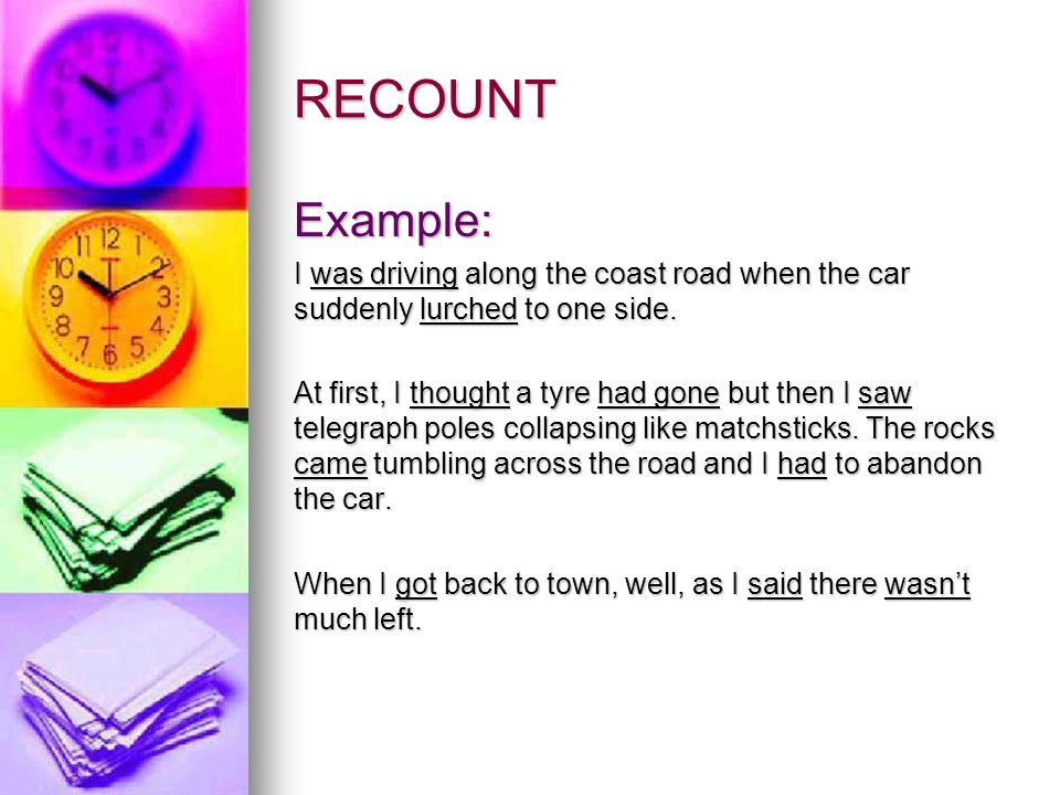 presentation on recount text A presentation i use to teach children how to write recounts by sharpjacqui in education and recount.