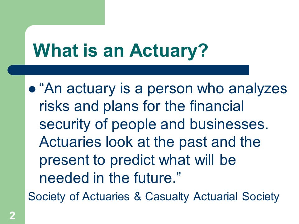 introduction to actuarial science Introduction to casualty actuarial science ken fikes, fcas, maaa director of property & casualty email: [email protected] ken fikes, fcas, maaa 1 casualty actuarial science two major areas are measuring 1.