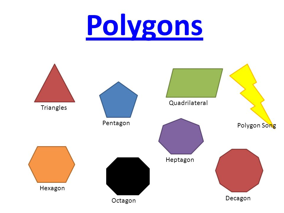 Polygons Quadrilateral Triangles Pentagon Polygon Song Heptagon
