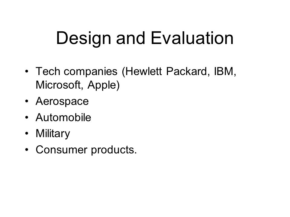Cognitive psychology and careers ppt video online download for Consumer product design companies