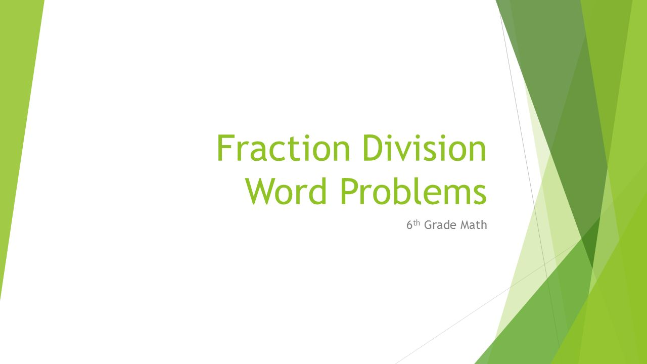 Solving Division Word Problems